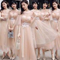 Ethnische Kleidung Chinesisches Kleid Brautjungfer Vestidos 2021 Schwester Gruppen Freundinnen Hochzeit Langer Abschluss Abend Frauen Party