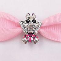 Authentic 925 Beads de prata esterlina DSN Alice em Wonderland Cheshie Cat Charm encantos se encaixa na Europa Pandora estilo jóias pulseiras pescoço