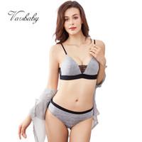 Sistemas de sujetadores Varsbaby Lace Beauty Back Atrás Sexy Thin Cup Cable Sujetador gratis Set Cómodo Mujeres Underwear