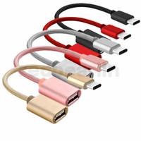 나일론 꼰 유형 C OTG 어댑터 남성으로의 USB 화웨이 샤오 미 3.0 여성 어댑터 OTG 데이터 케이블 컨버터