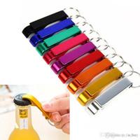 Portátil Abridor de garrafas liga de alumínio de aço inoxidável Keychain Cerveja com chaveiro 2-em-1 Design for dom partido Ferramenta Multifuncional