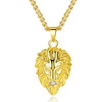 Tête De Lion En Alliage Collier Européen Et Américain Hip Hop Tide Marque Bijoux Tête De Lion Pendentif Unisexe