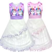 unicorn for girls dresses INS Summer Kids clothing 2 colors ...