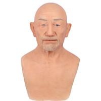 Voller Kopf Realistische Silikon-Halloween-Maske Gesicht Menschliche Haut für April Fool's-Day Maskerade Cosplay Spoof Tricky Requisiten Disguise Selbst