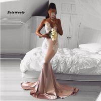 새로운 도착 댄스 파티 이브닝 가운 vestido 드 noiva sereia 가운 로브 드 야회 우아한 드레스 럭셔리 섹시한 인어 V 넥 레이스 댄스 파티 드레스