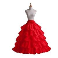 Mode Dame Pettiskirt 4 Hoop 5 Schicht Tüll Langer Rock Petticoat Weiche Hochzeit Prom Kleidung Unterkirt Crinoline Lange Petticoat