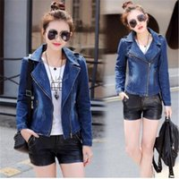 Women Short Denim Jackets Spring Flamingo Embroidery Jeans J...