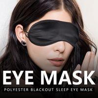 Máscaras de ojo del sueño máscara de sombra máscara cubierta de la siesta para los ojos vendados del recorrido el dormir suave de poliéster suave de la máscara con los ojos vendados regalo de albergue 0612001