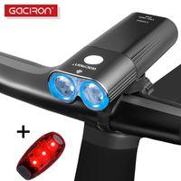 أضواء الدراجة Gaciron ضوء دراجة المصباح IPX6 USB LED فلاش الأمامي مصباح V9C-400 V9F-600 V9C-800 V9S-1000 V9D-1600 V9D-1800