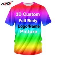 UJWI 3D Imprimer personnalisés Femmes / Hommes T-shirts en coton polyester surépaisseurs Shirts usine Dropship DIY compétition équipe Vêtements Racing CX200703