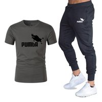 Mode-Sommer-Sets Pumba Graphic T-Shirt + Pants Herren Markenkleidung 2-teiliger Anzug Markentrainingsanzug Fashion Casual T-Shirts Sets M-2XL