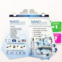 1ML Nano Sıvı Teknolojisi Ekran Koruyucu temperli cam iPhone Samsung 3D Kavisli Kenar Karşıtı Çizilmeye Temperli Filmi