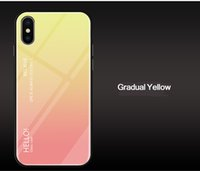 Color gradient tempered glass mobile phone shell mirror for ...
