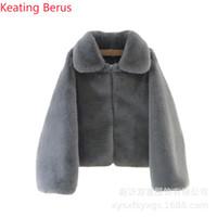Keating Berus Женское пальто из искусственного меха с имитацией норки Осень и зима Пальто женское Высококачественная одежда 0617