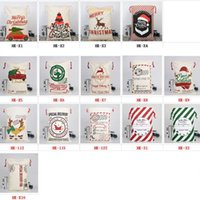 2019 bolsas de Nueva Navidad grande Monogrammable lienzo de Santa Claus con asas con los renos Monogramable Navidad regalos saco Bolsas 50x70cm