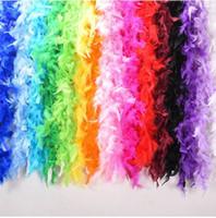 10pcs 2m Huhn-Feder-Streifen-Farbe Türkei-Feder-Boa für Hochzeit Geburtstag Partei Hochzeit Dekorationen Kleidung Accessoires