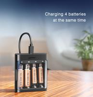 Cargador Inteligente AAA cargador de batería AA envío libre de NiMH NiCd recargable de la batería 5V Micro USB cable de carga del cargador de batería
