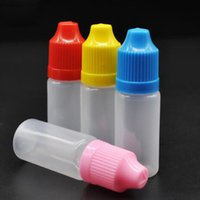 2000PCS الكثير 10ML PE E السائل زجاجة القطارة البلاستيك E عصير زجاجات فارغة يفتحها الاطفال قبعات طويلة رقيقة إبرة نصائح للبيع