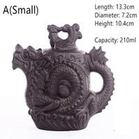 Preferenza Teiera di ceramica, cinese tradizionale Teiera Dragon e Phoenix bollitore Premium tè infusore argilla viola set da tè
