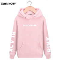 XUANSHOW 2019 black Kpop Hoodies Langarm-Buchstabe gedrucktes Hoody Sweatshirts beiläufige Fleece Pullover Mujer XXL Y200107