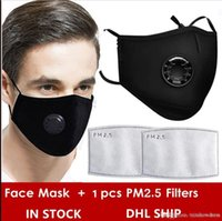 Reusable Face Masks Black With Respirator Value Carbon Flite...