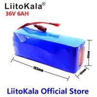 Liitokala 36V 6Ah 500W 18650 Lithiumbatterie 36V 6AH Elektrische Radbatterie mit PVC-Gehäuse für elektrisches Fahrrad 42V 2A-Ladegerät