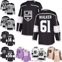 61 Sean Walker Los Angeles Kings 38 Carl Grundstrom 81 Matt Roy 14 Brendan Leipsic 56 Kurtis MacDermid 11 Anze Kopitar 77 Jeff Carter Jersey
