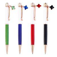 창조적 인 DIY 빈 튜브 클로버 금속 볼펜 광고 펜 사용자 정의 로고 금속 비즈니스 펜 스팟 도매