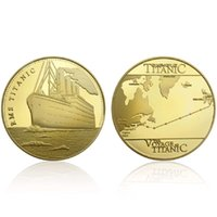 GLSY Hot Selling Voyage Of Titanic Commemorative Coins Golde...