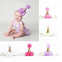 Bébé Bandeaux chapeau bébé fête d'anniversaire Photographie Props Glitter Paillettes Princess Fleurs Accessoires cheveux Serre-têtes pour enfants