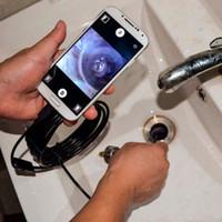 2 متر 1 متر 7 ملليمتر كاميرا المنظار مرنة IP67 الفحص للماء borescope الكاميرا لالروبوت الكمبيوتر المحمول دفتر 6LEDs قابل للتعديل