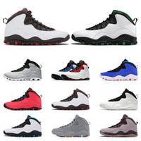 Новый 2020 Спортивная обувь 10 мужская баскетбольная обувь 10s Seattle Cement TINKER стальной серый порошок СИНИЙ Я вернулся спортивные кроссовки тренер