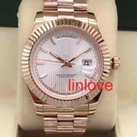 Лучшие новые поступления механические автоматические Datejsut мужские часы розовое золото часы роскошь Алмаз дизайнер Reloj мода 41 мм наручные часы