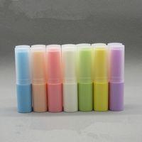 매트 커버 연습장 4g 빈 레드 / 핑크 / 블루 / 퍼플 화장품 작은 Lipbalm 튜브 DIY 메이크업 립스틱 샘플 자루 팩 컨테이너