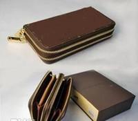 긴 지갑 돈 가방 더블 지퍼 파우치 동전 주머니 2020 ZIPPY ORGANIZER 고전적인 패션 디자이너 표준 지갑 남성 여성