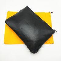 Mode Männer Frauen Clutch Bag Klassische Dokument Taschen Laptop Cover Tasche Caoted Cared Canvas Geldbörse mit Staubbeutel