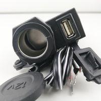 ОДИН 12 В 2.1A Водонепроницаемый Мотоцикл Мотоцикл 5 В USB Порт Питания Прикуривателя Адаптер Интеграции Розетка Зарядное Устройство Бесплатная Доставка