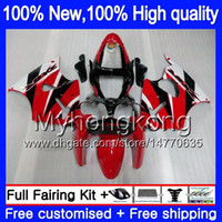 Cuerpo para Kawasaki ZX600 600cc ZZR600 2005 2006 2007 2008 Carrocería 219MY.60 rojo brillante ZX600CC ZZR600 ZZR 600 05 06 07 08 carenado completo