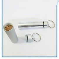 Tasca Porta stuzzicadenti Scatole stuzzicadenti con portachiavi in lega di alluminio Custodia portachiavi per il viaggio