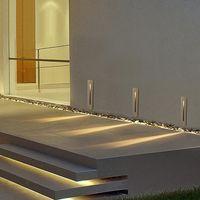 3W empotrada llevó luz de escalera AC85-265V Interior Exterior esquina de la pared se enciende la lámpara Paso Escaleras escalera ligera de la decoración