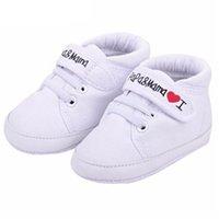 신생아 아기 신발 남여 첫 번째 워커 0-18M 유아 신생아 아기 유아 어린이 소년 소녀 소프트 단독 캔버스 스니커즈 신발