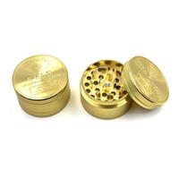 40MM de oro Grinder 3 Capa 3 piezas de oro Grinder metal de la aleación a base de plantas de tabaco amoladora de la especia trituradora Muller