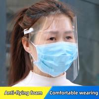 Transparente Anti-gotículas À Prova de pó protecção de Face Completa Máscara de protecção contra a protecção contra a pala pára o espeto voador