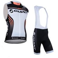 Equipo gigante Ciclismo Sin mangas Jersey Jersey Chaleco BIB Set Short Hombres Verano Tendencia Cómoda Top transpirable U71020
