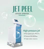 لا إبرة المتوسط الأكسجين جت التقشير حقن رذاذ الأكسجين المياه الوجه آلة تبييض إصلاح آلة تجديد مرطب للعناية بالبشرة