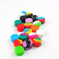 Recipientes antiadherentes de cera caja de silicona Contenedor de silicona de 5 ml Frascos de grado alimenticio Tarro de almacenamiento del recipiente de la herramienta de limpieza para vaporizador vape aprobado por la FDA