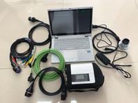 авто диага MB звезда C4 мультиплексор пяти кабелей с ноутбуком CF-AX2 i5 CPU 8G RAM последней мягкой посудой мини-SSD полного набора непосредственно использовать