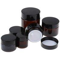 5g 10g 15g 20g 30g 50g 100g Bernstein Brown Glas Gesichtscreme Jar nachfüllbar runde Flaschen Kosmetik Make-up Lotion Vorratsbehälter Jar