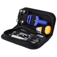 Wholesale-13pcs Uhr-Reparatur-Werkzeug-Kit Set-Uhr-Kasten-Öffner-Link-Frühlings-Stab-Remover-Schraubenzieher-Pinzette Uhrmacher- dediziertes Gerät