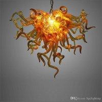 Новые Современные муранского стекла LED Современные люстры Арт-дизайн Матовый выдувное стекло искусство Люстры Главная Lobby Bar Украшение -Girban